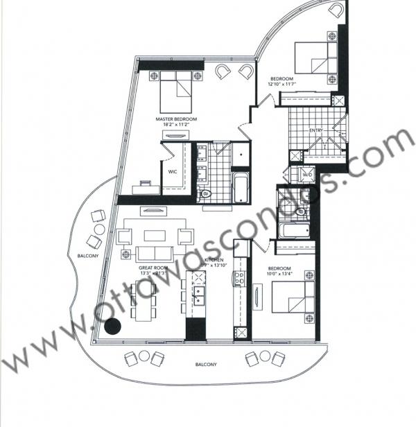 Claridge Icon Condo Ottawa - 485 Preston St - Little Italy - Floor